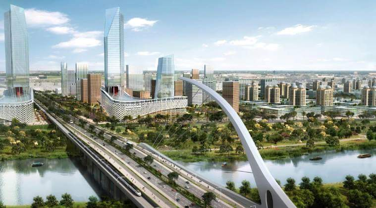The planned Amaravati city. Credit: Twitter