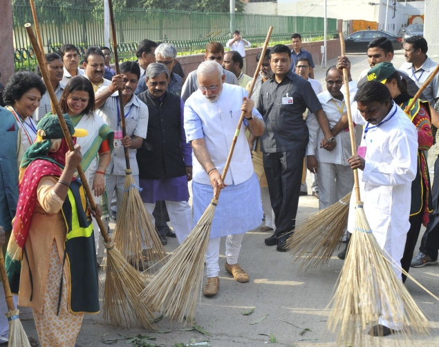 One programme thatPrime Minister Narendra Modi has staked a lot of political capital in is the Swachh Bharat Mission. Credit: Reuters