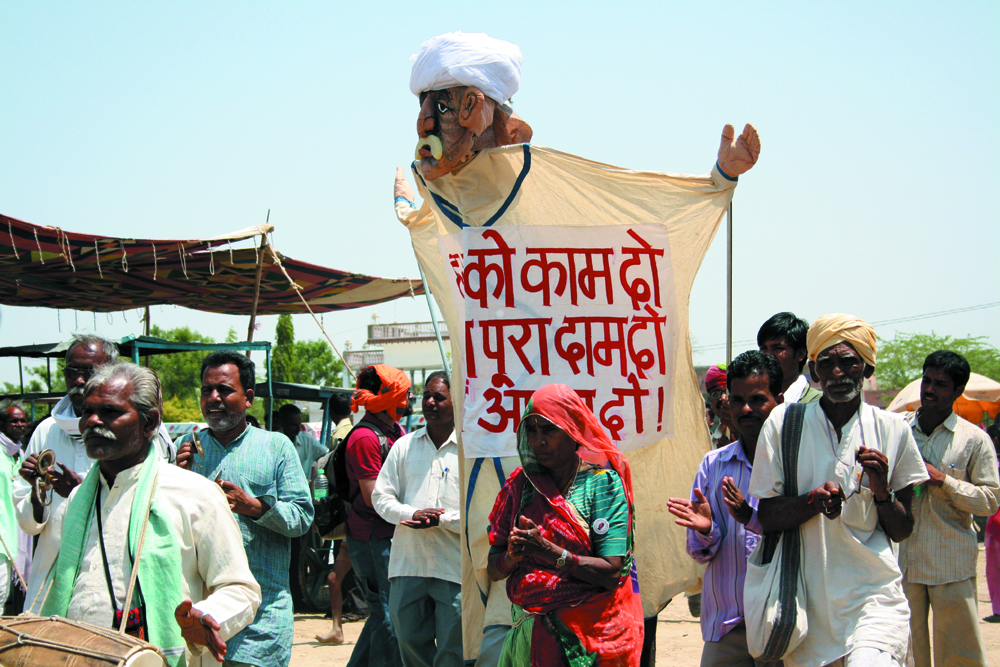 A puppet being used in a NREGA awareness campaign. Credit: Babulal Naga