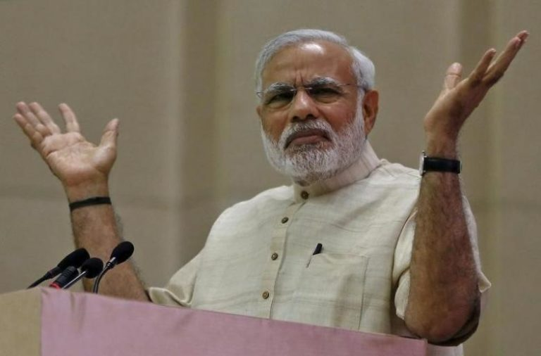 Prime Minister Narendra Modi speaks during a conference in New Delhi, India. Credit: Reuters/Files