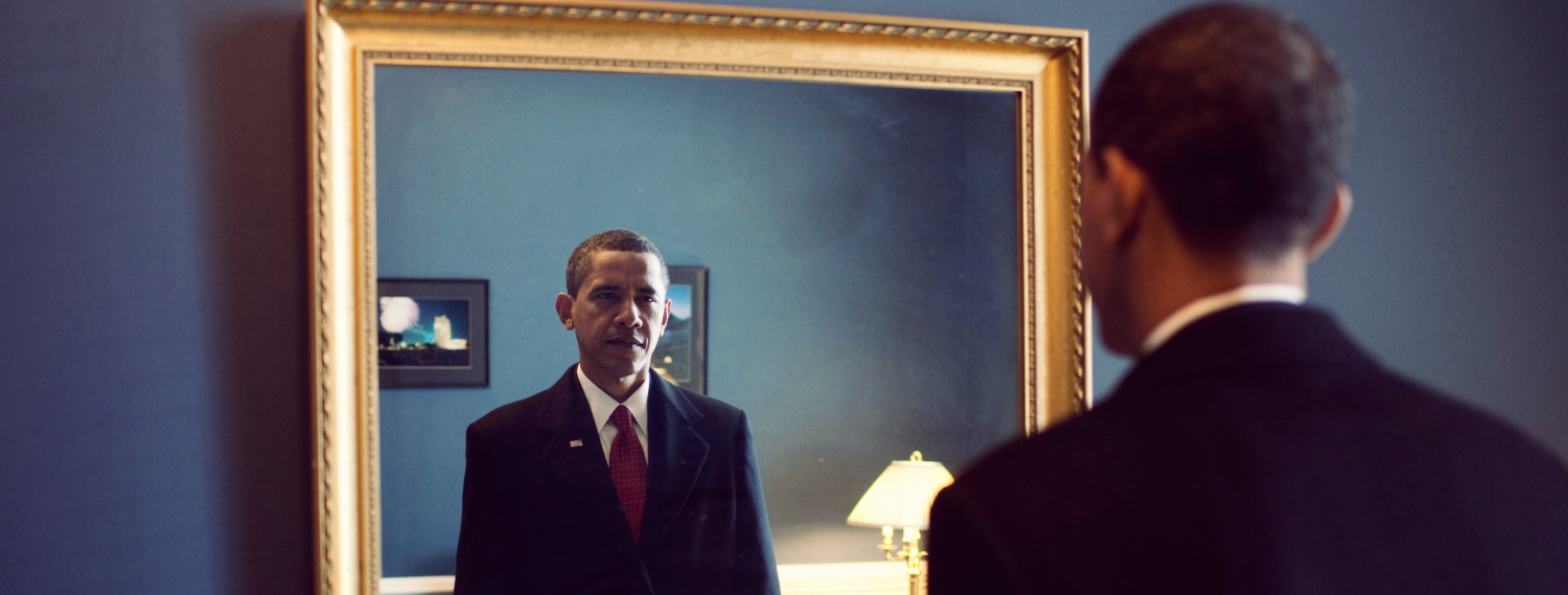 Jan. 20, 2009 ÒPresident-elect Barack Obama was about to walk out to take the oath of office. Backstage at the U.S. Capitol, he took one last look at his appearance in the mirror.Ó (Official White House photo by Pete Souza)  This official White House photograph is being made available only for publication by news organizations and/or for personal use printing by the subject(s) of the photograph. The photograph may not be manipulated in any way and may not be used in commercial or political materials, advertisements, emails, products, promotions that in any way suggests approval or endorsement of the President, the First Family, or the White House.