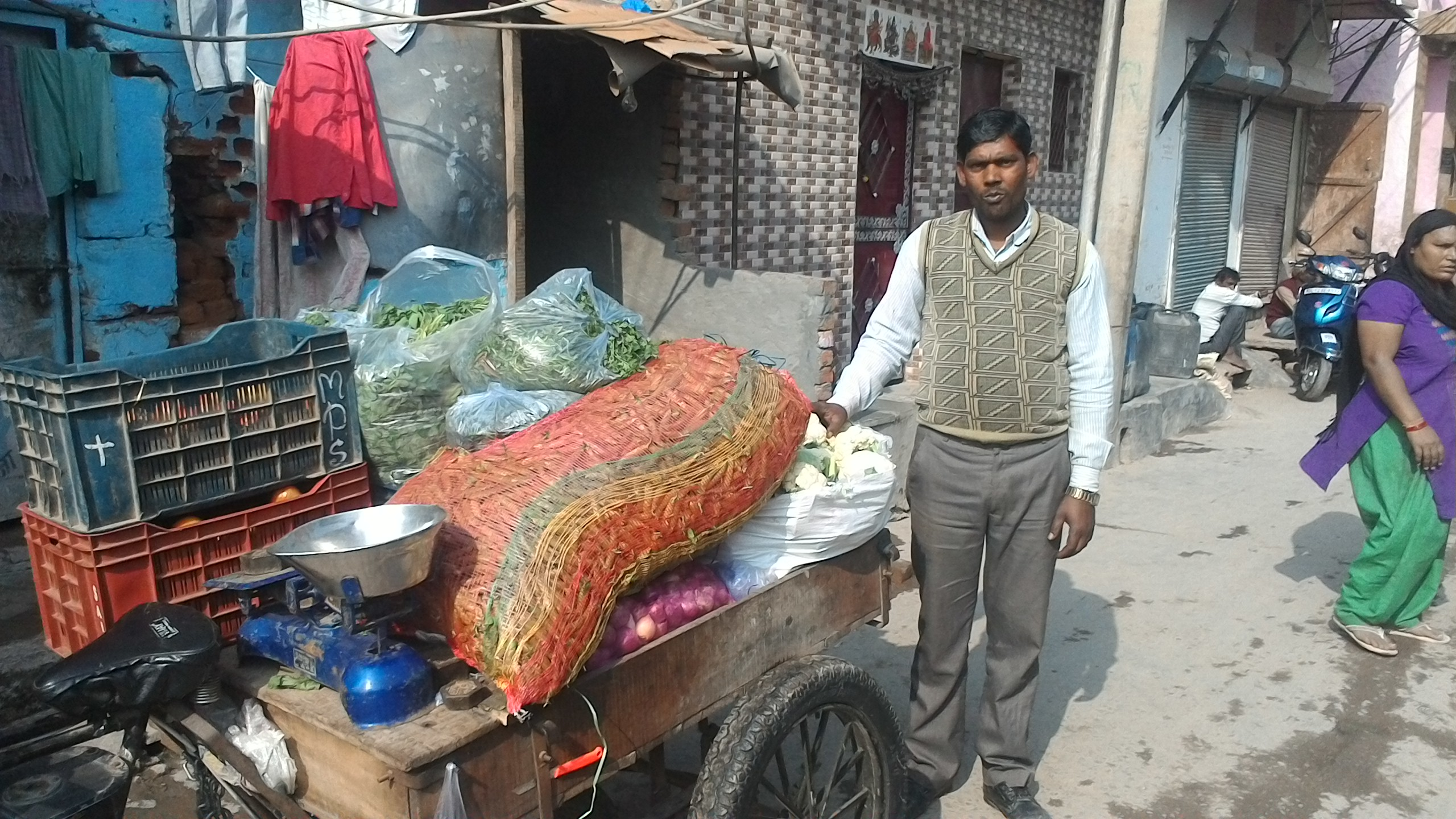 A vegetable seller. Credit: Vyom Anil