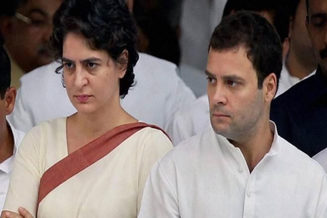 Prayanka Gandhi and Rahul Gandhi. Credit: PTI