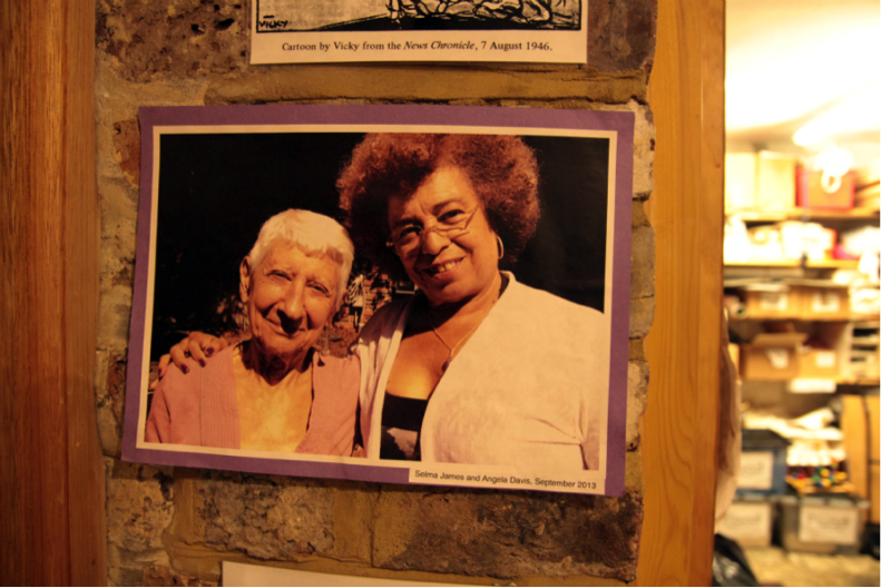 Selma James with activist and writer Angela Davis in 2013. Credit: Manisha Ganguly
