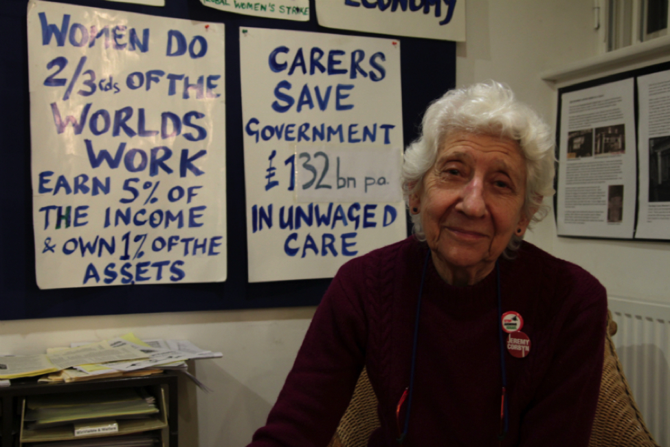 Selma James at the Crossroads Women's Centre. Credit: Manisha Ganguly