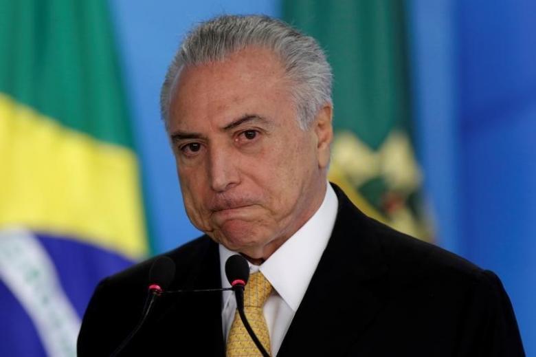 Brazil's President Michel Temer. Credit: Reuters/Ueslei Marcelino/Files