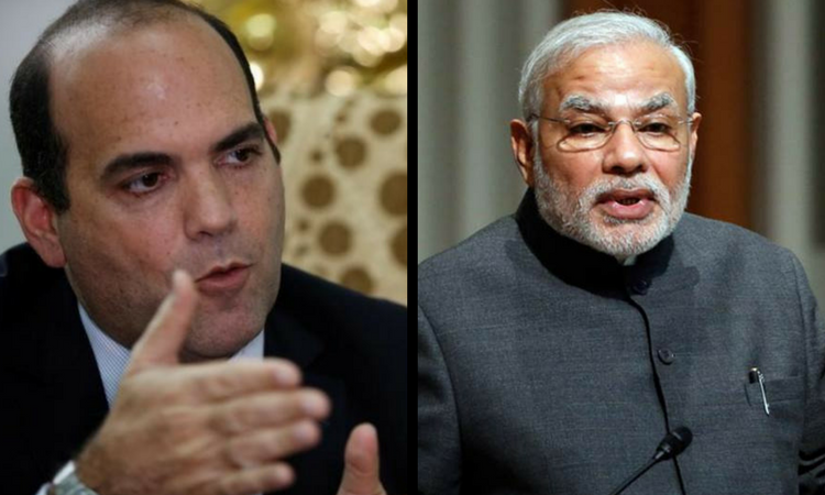 Prime Minister Fernando Zavala of Peru (R) and his Indian counterpart Narendra Modi. Credit: Reuters/Files