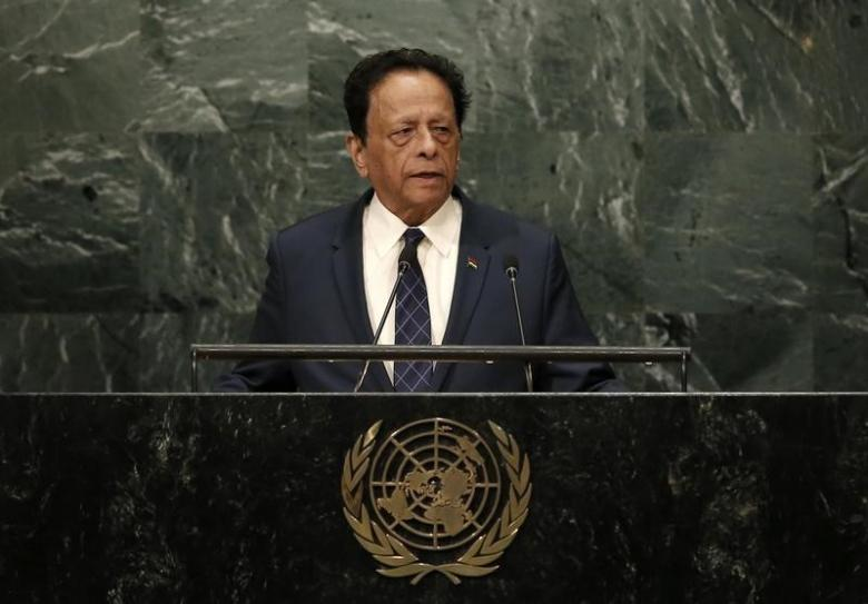 Sir Anerood Jugnauth. Credit: Reuters/Mike Segar/Files