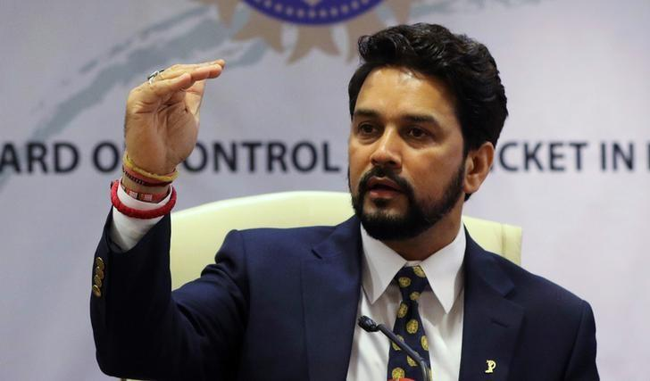 BCCI president Anurag Thakur who was recently removed by the Supreme Court for failing to comply with the Lodha Panel recommendations. Credit: Reuters/Files