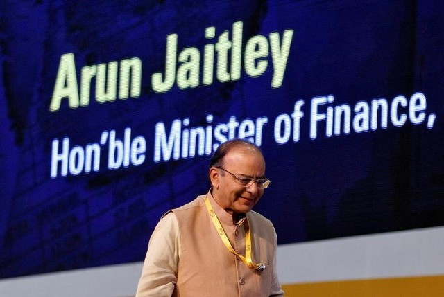 FILE PHOTO: Indian Finance Minister Arun Jaitley attends a seminar on the Goods and Services Tax (GST) issues during the Vibrant Gujarat investor summit in Gandhinagar, India January 11, 2017. REUTERS/Amit Dave/File Photo