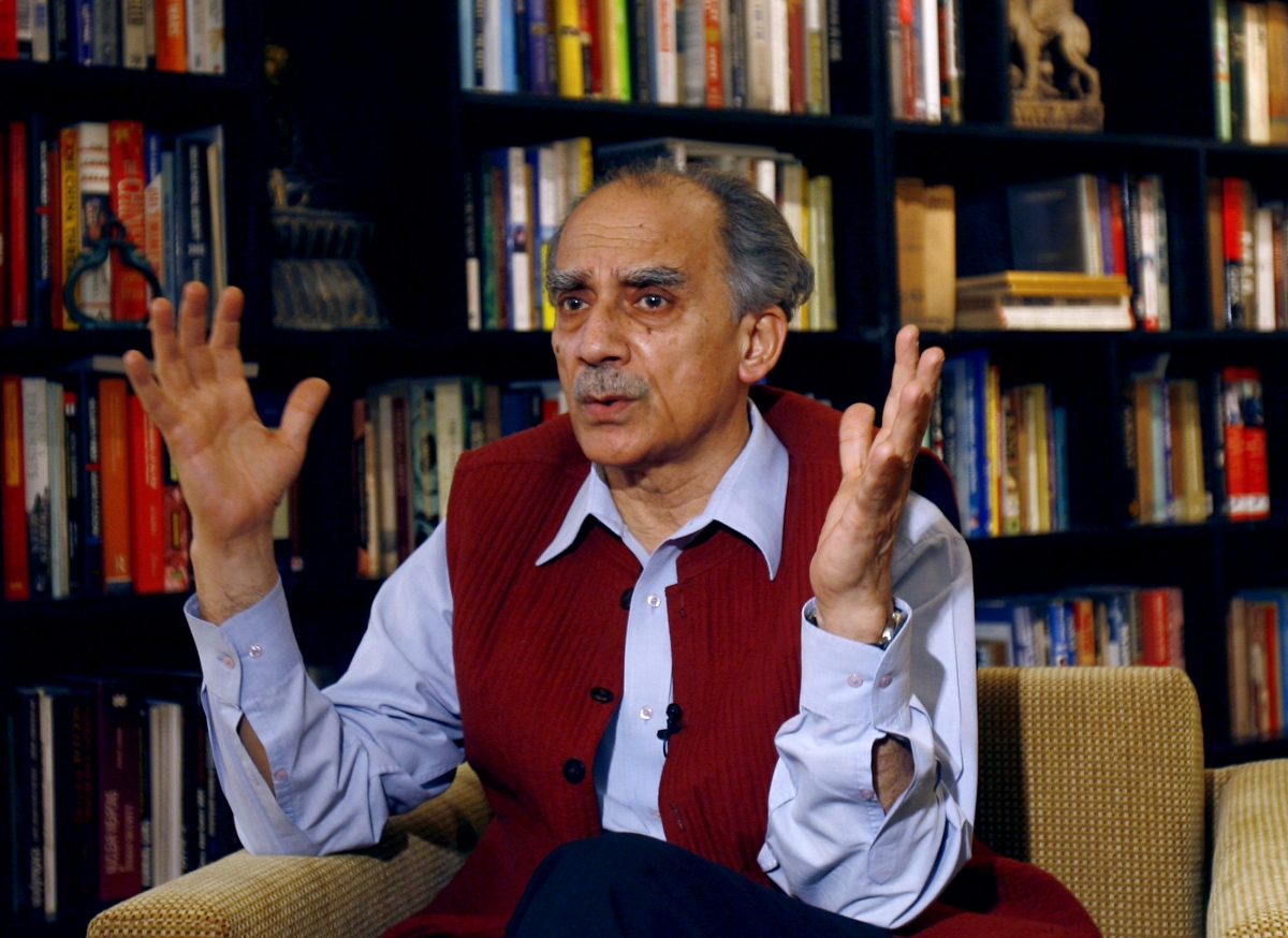 File photo of Arun Shourie. Credit: Reuters