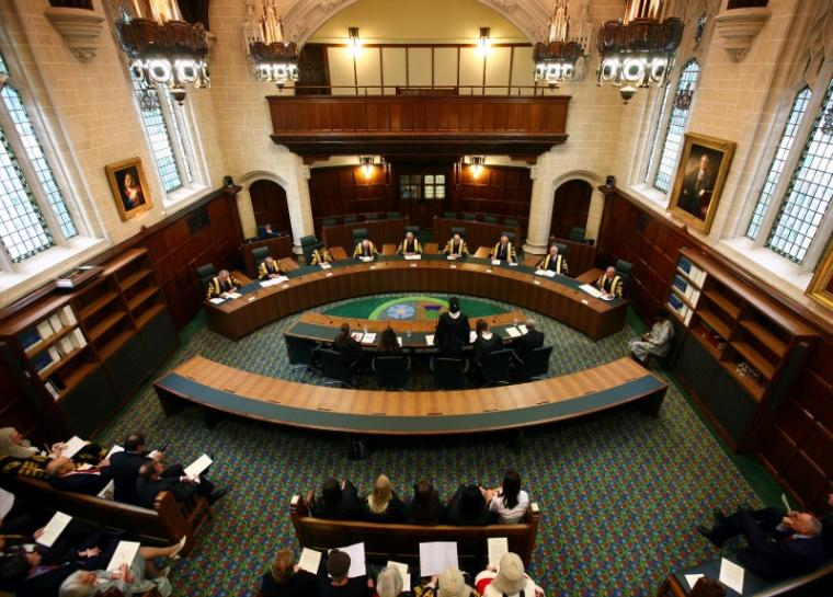 A general view shows Court One during the opening of the Supreme Court of the United Kingdom in London, October 16, 2009. REUTERS/Gareth Fuller/Pool