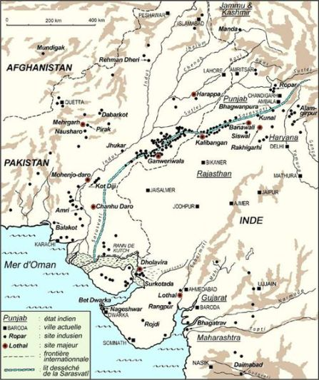 A map showing the expanse of the Indus Valley civilisation. Courtesy: Aashima Dogra