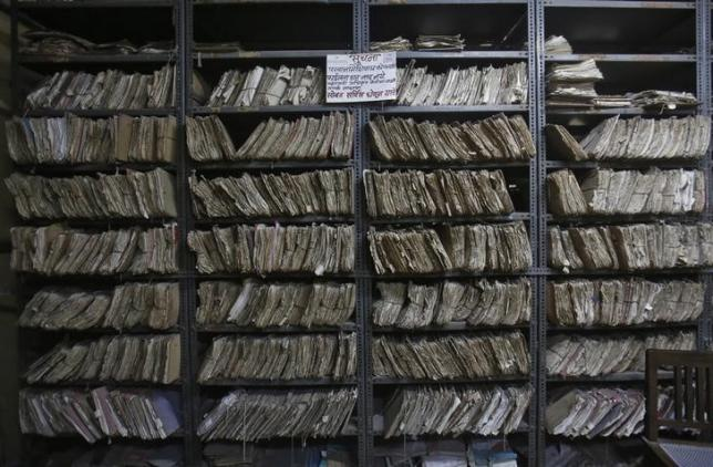 Stacked pile of files. (Representative image) Credit: Reuters