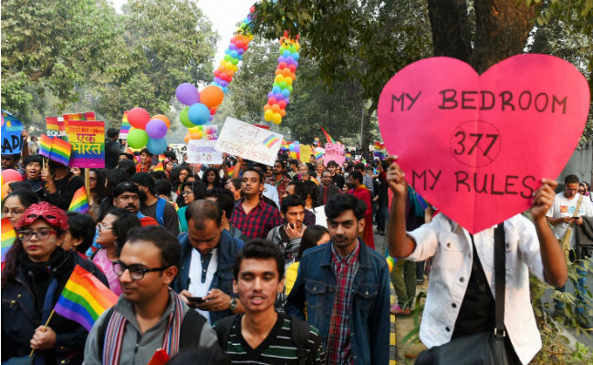 File picture of a Gay Pride Parade held in Delhi in November 2016. Credit: PTI