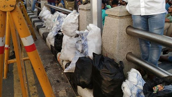 Garbage bags collected by the volunteers in Chennai. Courtesy: Catherine Gilon