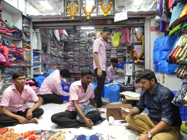 Kripesh Bhayani, a wholesale cloth seller, diversified to garment manufacturing on a small scale, but is still facing losses. Courtesy: IndiaSpend