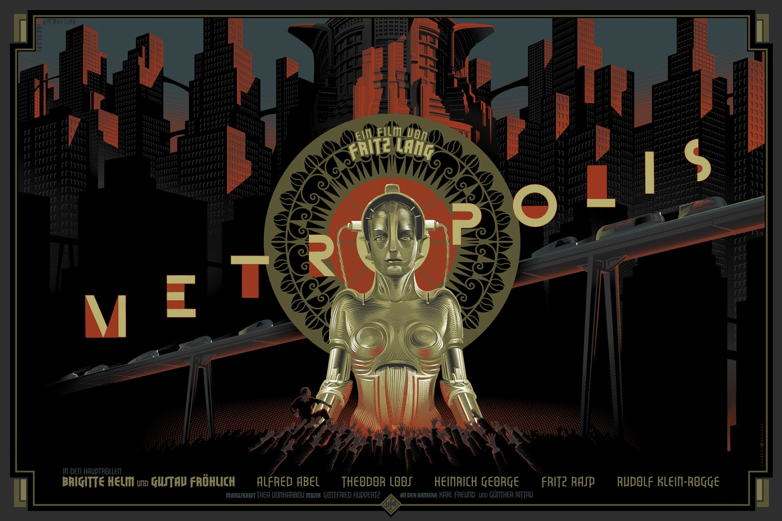 A poster of the film Metropolis (1927)