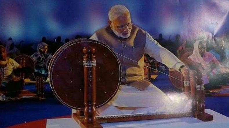 Modi Takes the Place of Gandhi in Khadi Udyog's Calendar, Diary