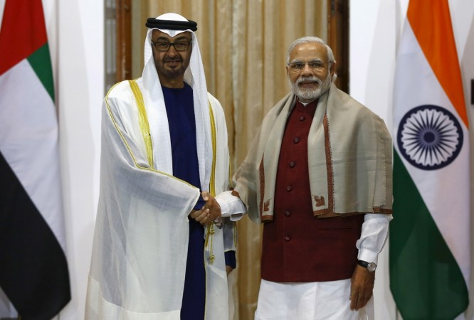 Sheikh Mohammed bin Zayed al-Nahyan, Crown Prince of Abu Dhabi, with Prime Minister Narendra Modi. Credit: Reuters/Files