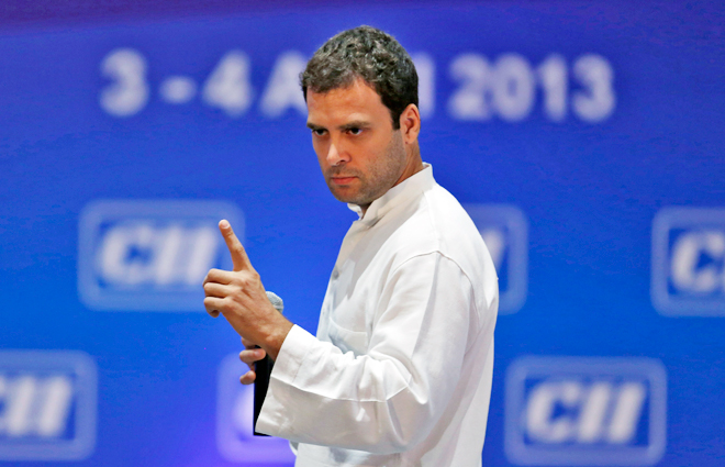 Rahul Gandhi's recent speeches reminds one of the Congress in the 1960s and 1970s. Credit: Reuters/Files