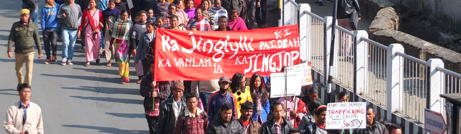 rally in shillong called by women activists on january craousel