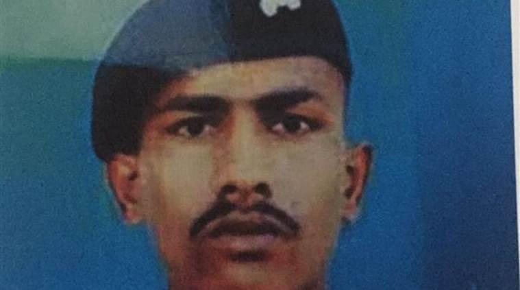 Indian soldier Chandu Babulal Chouhan. Credit: Twitter