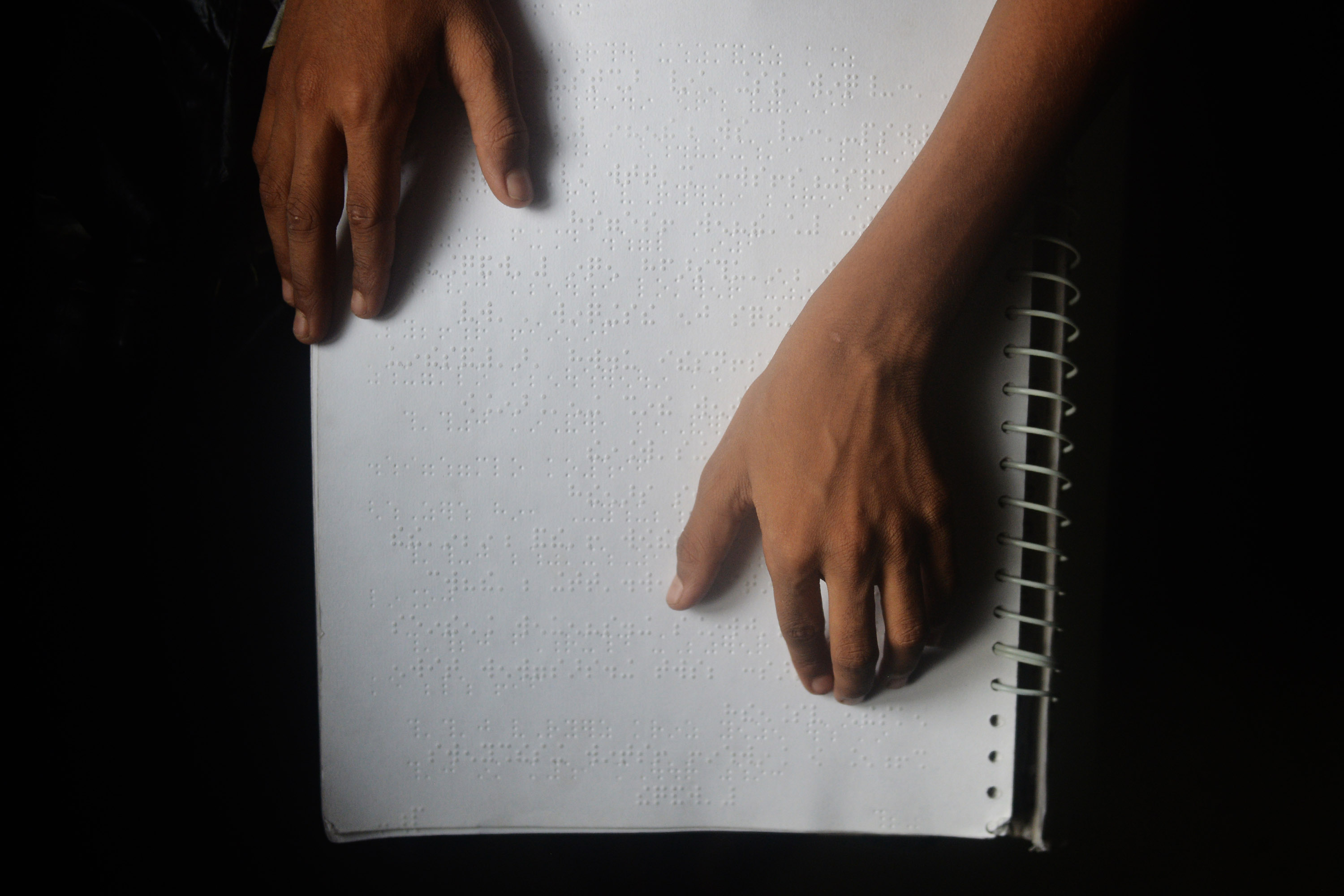 Study material in Braille. Credit: Sutirtha Chatterjee