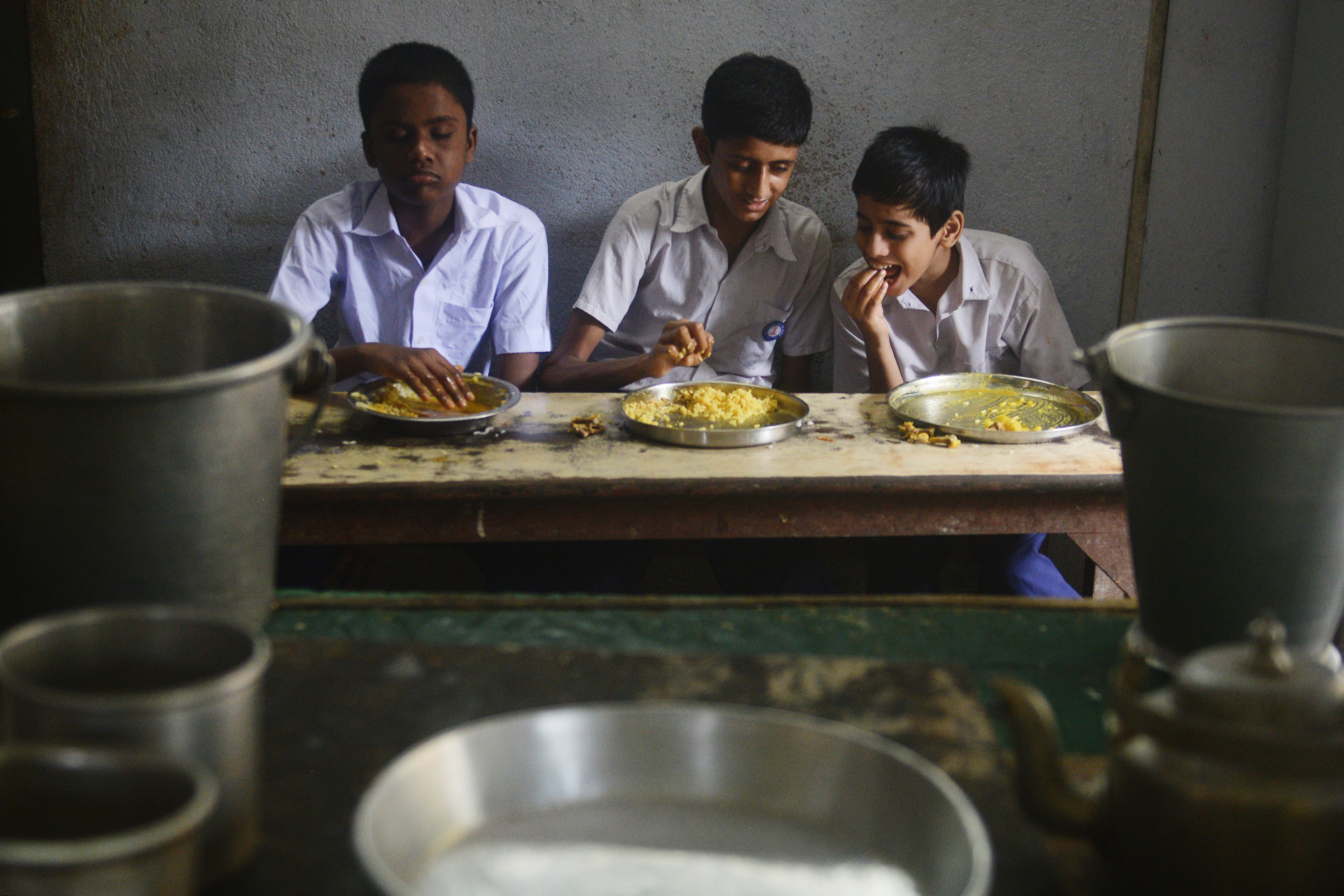 Most blind schools provide mid day meals for their students. Credit: Sutirtha Chatterjee