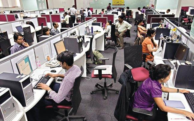 File picture of Indian tech workers. Credit: PTI