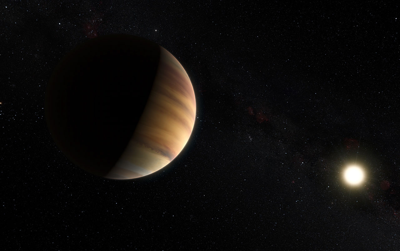 An artist's impression of the exoplanet 51 Pegasi b. A team of Dutch and American scientists have found that its atmosphere contains water. Credit: esoastronomy/Flickr, CC BY 2.0