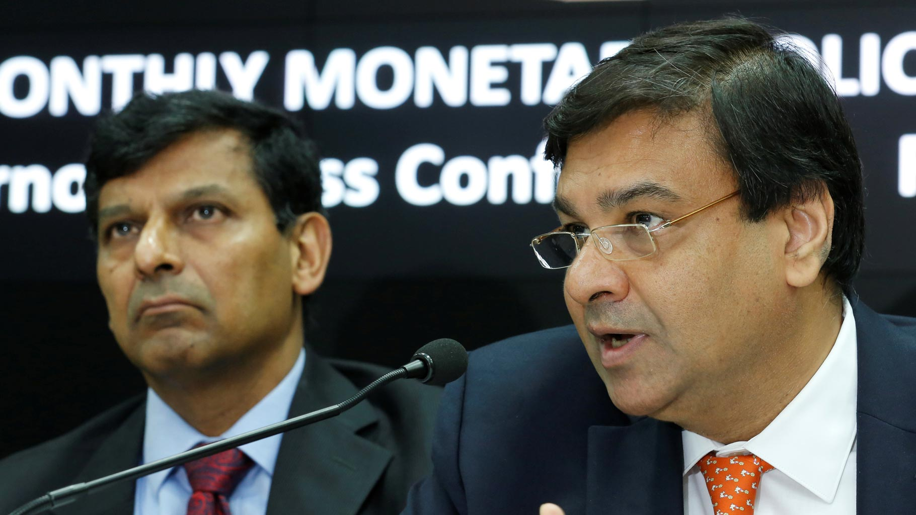 Former RBI governor Raghuram Rajan and current RBI governor Urjit Patel. Credit: Reuters
