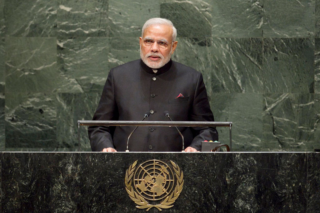 Prime Minister Narendra Modi at the United Nations. Credit: PTI