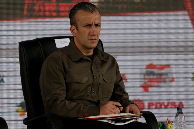 Venezuela's Vice President Tareck El Aissami attends the swearing-in ceremony of the new board of directors of Venezuelan state oil company PDVSA in Caracas, Venezuela on January 31, 2017. Credit: Reuters/Marco Bello