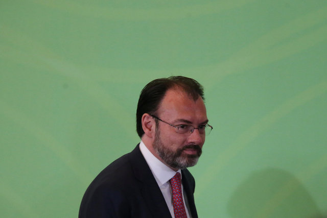 Mexico's Foreign Minister Luis Videgaray looks on during the 25th Session of the General Conference of the Agency for the Prohibition of Nuclear Weapons in Latin America and the Caribbean in Mexico City, Mexico, February 14, 2017. Credit: Edgard Garrido/Reuters