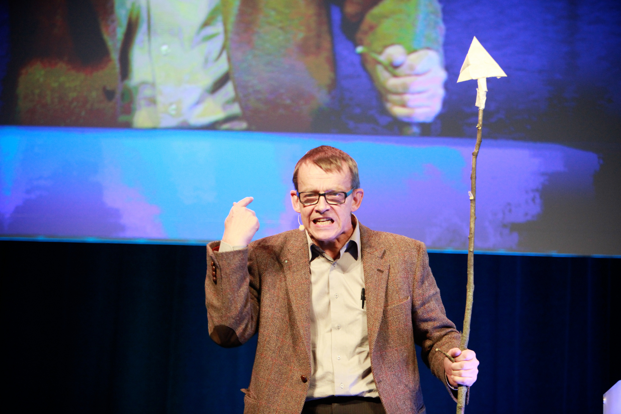 Hans Rosling during a talk in 2012. Credit: zero_org/Flickr, CC BY 2.0