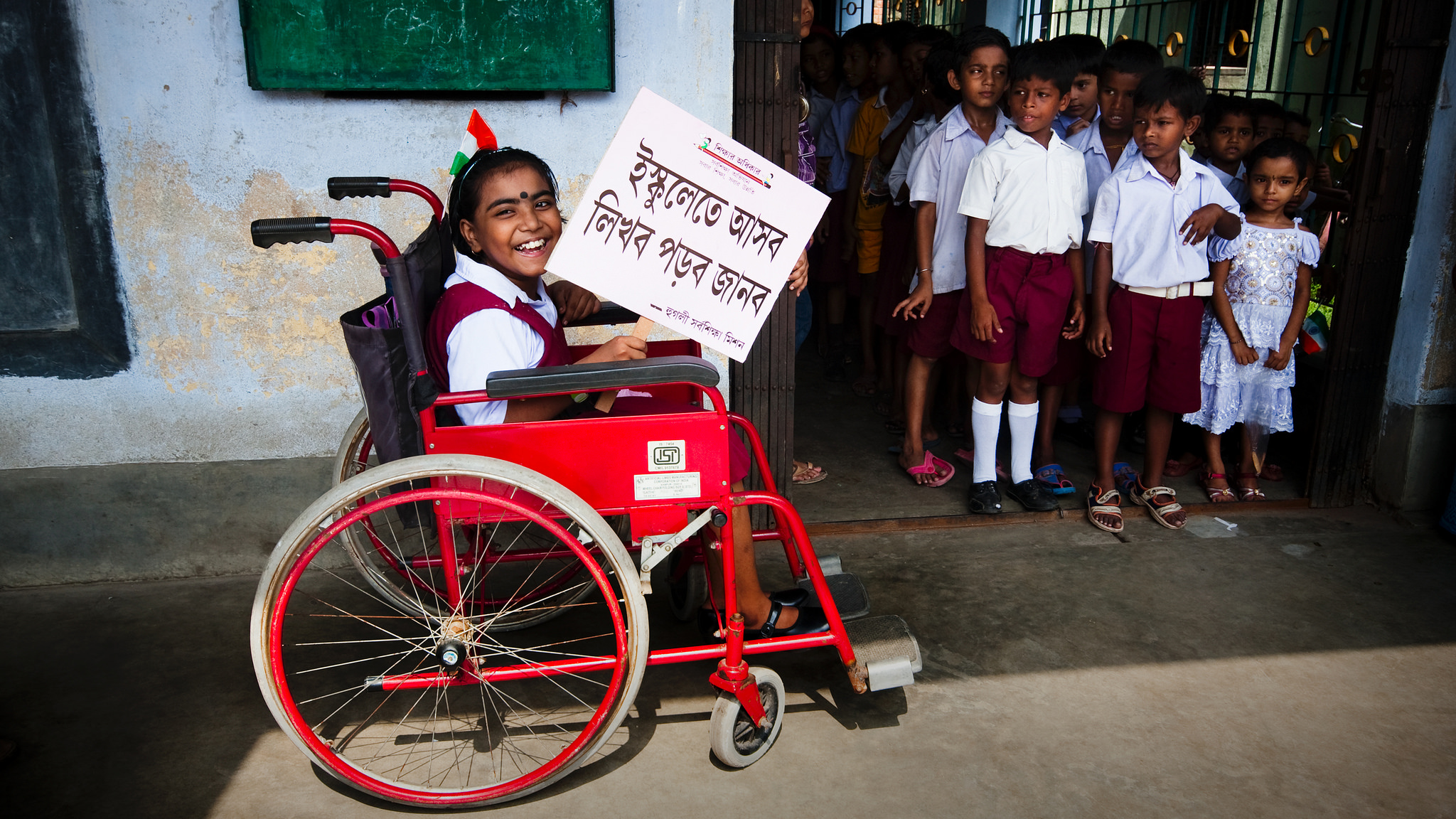 A girl enjoying her right to a free education. Credit: UN/Arup Ghosh/Flickr, CC BY-NC-ND 2.0