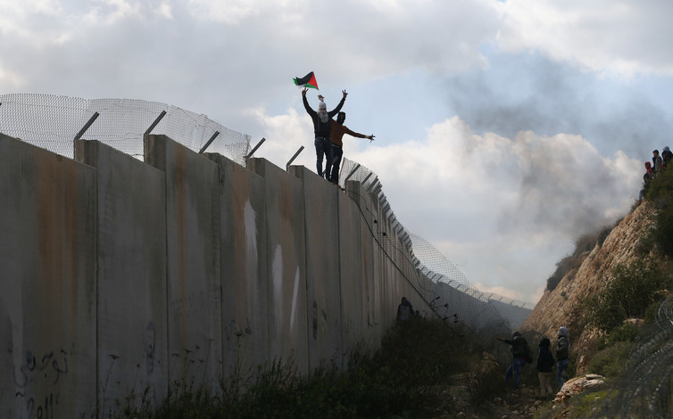 Not all barriers in the Arab-Israeli conflict are this easy to surmount. Credit: Reuters