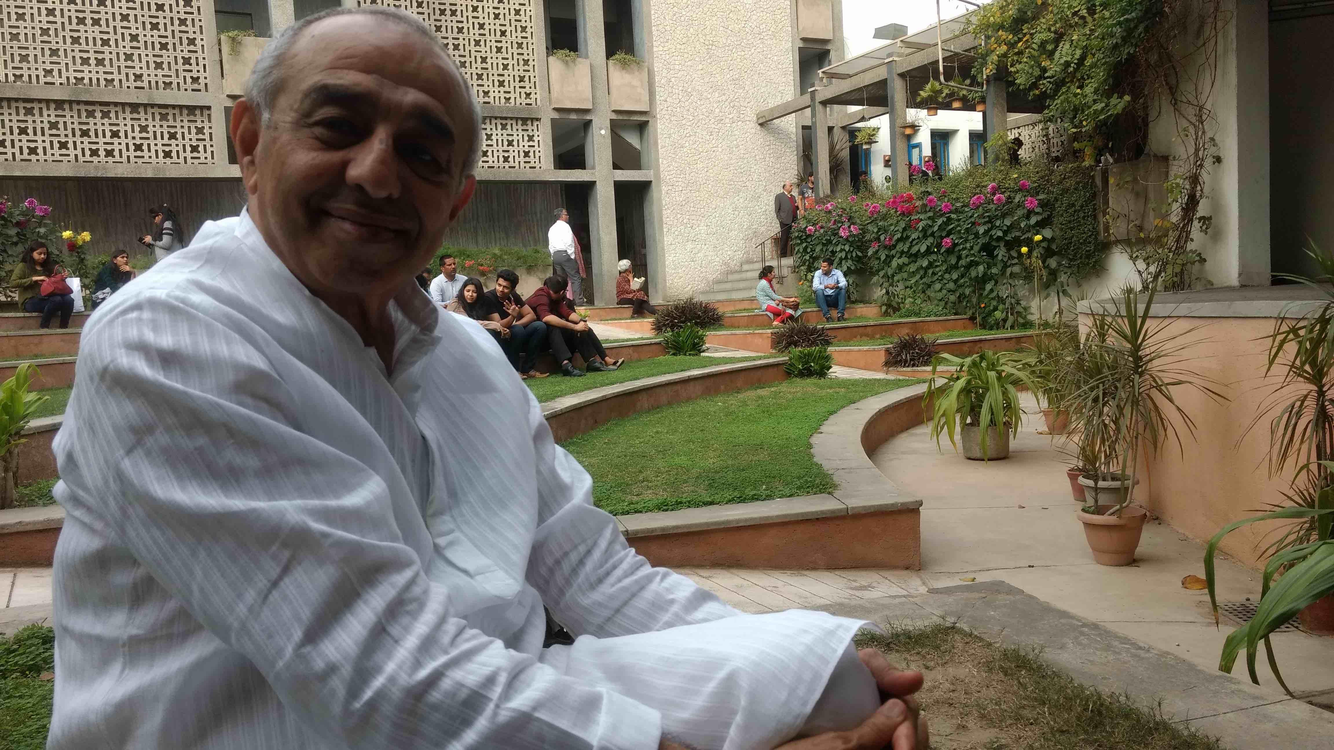 Astad Deboo at Triveni Kala Sangam in New Delhi. Credit: Sangeeta Barooah Pisharoty