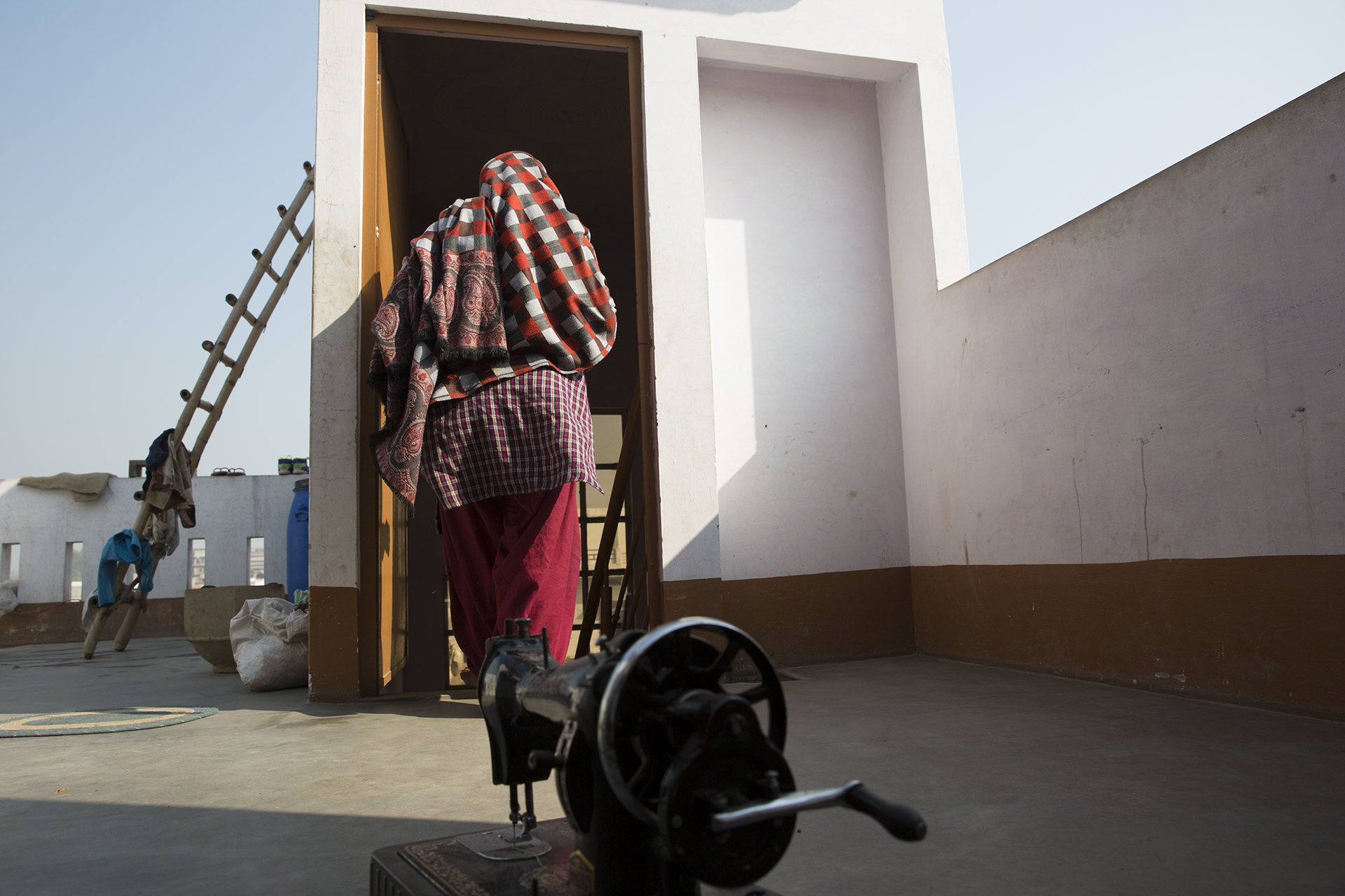 On the terrace of her present house. Chaman has been keeping unwell since the riots in 2013. She and the other gang rape survivors did not receive any additional psychological or mental health assistance post the rapes. Credit: Mariya Salim