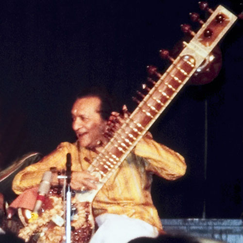 Ravi Shankar popularised the sita in the West. Credit: Wikimedia Commons