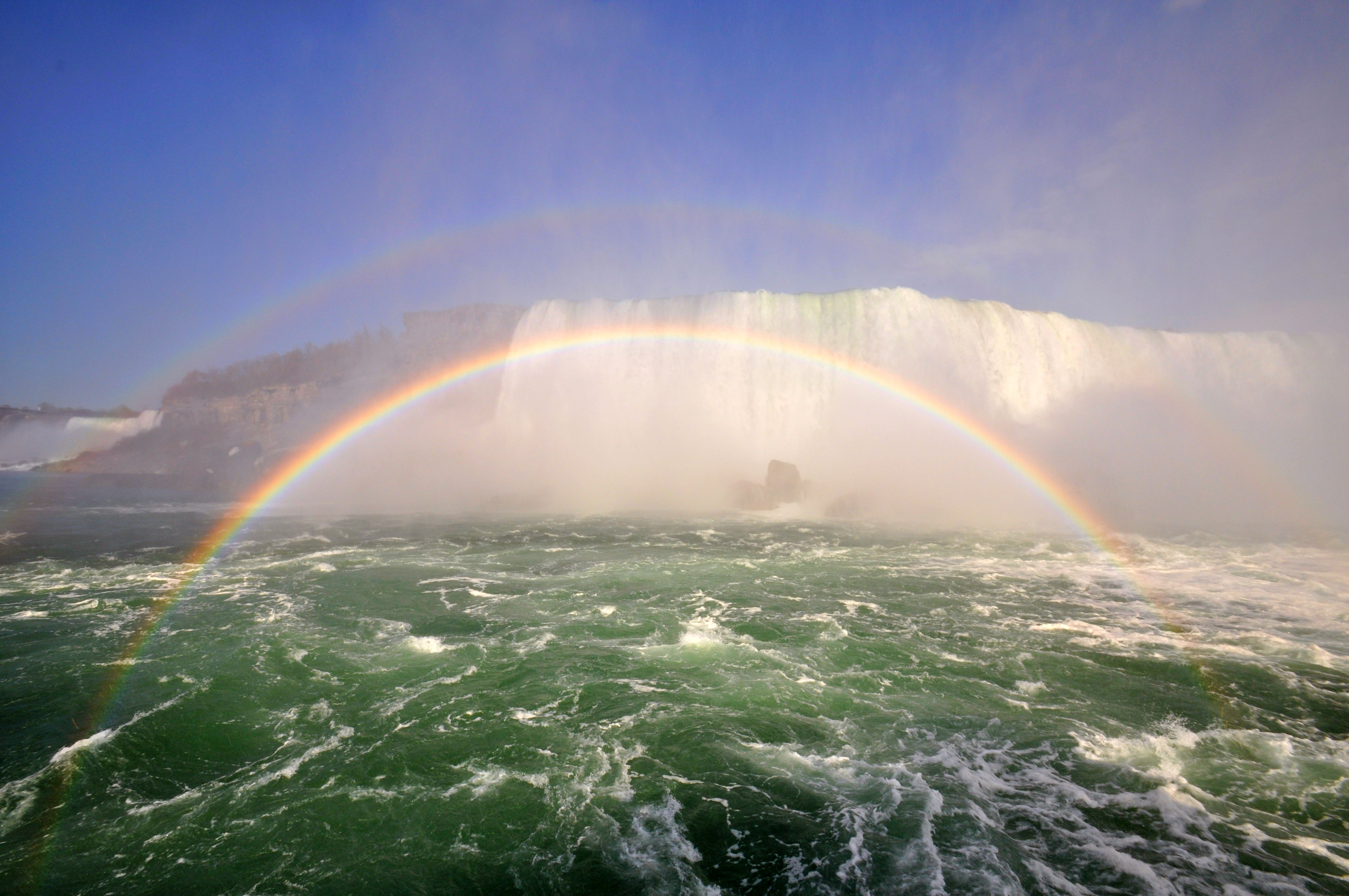 Double rainbow with Niagara Falls. Credit: Wikimedia Commons