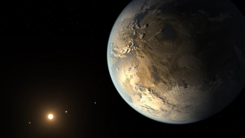 Kepler-186f is seen in a NASA artist's concept released April 17, 2014.