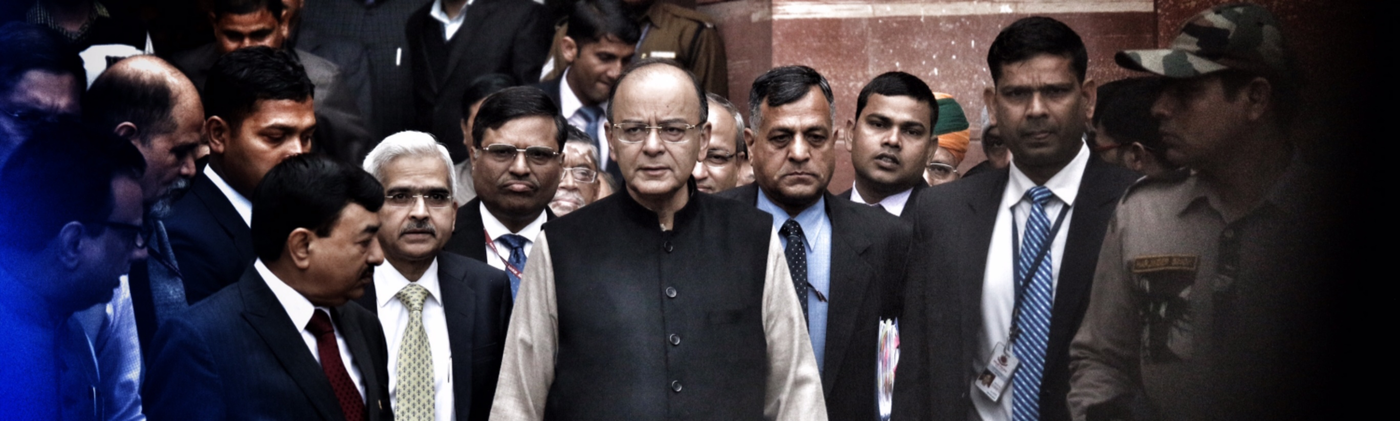 Finance minister Arun Jaitley before presenting the Union Budget 2017-18. Credit: Shome Basu/The Wire