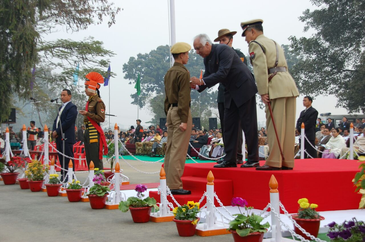 Weeks before his final killing, Herojit received a promotion and a police gallantry medal from the Governor of Manipur. Credit: Special Arrangement