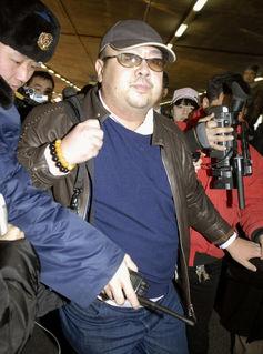 Kim Jong-nam arrives at Beijing airport in 2017. Credit: Reuters
