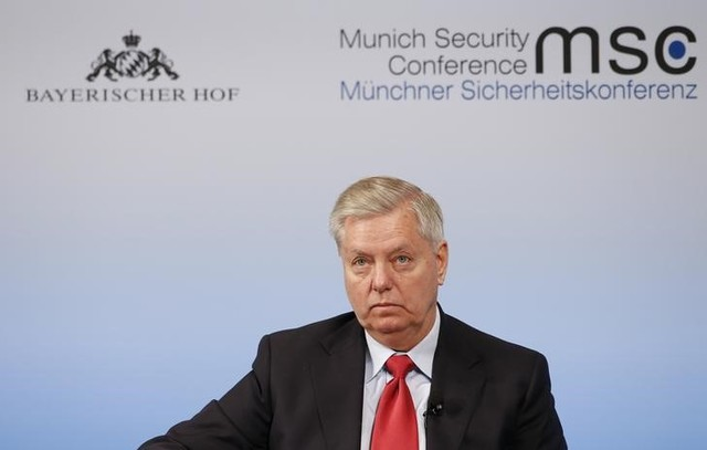 US senator Lindsey Graham attends the 53rd Munich Security Conference in Munich, Germany, February 19, 2017. Credit: Reuters