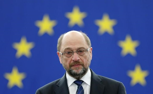Outgoing President of the European Parliament President Martin Schulz attends the announcement of the candidates for the election to the office of the President at the European Parliament in Strasbourg, France, January 16, 2017. Credit: Reuters