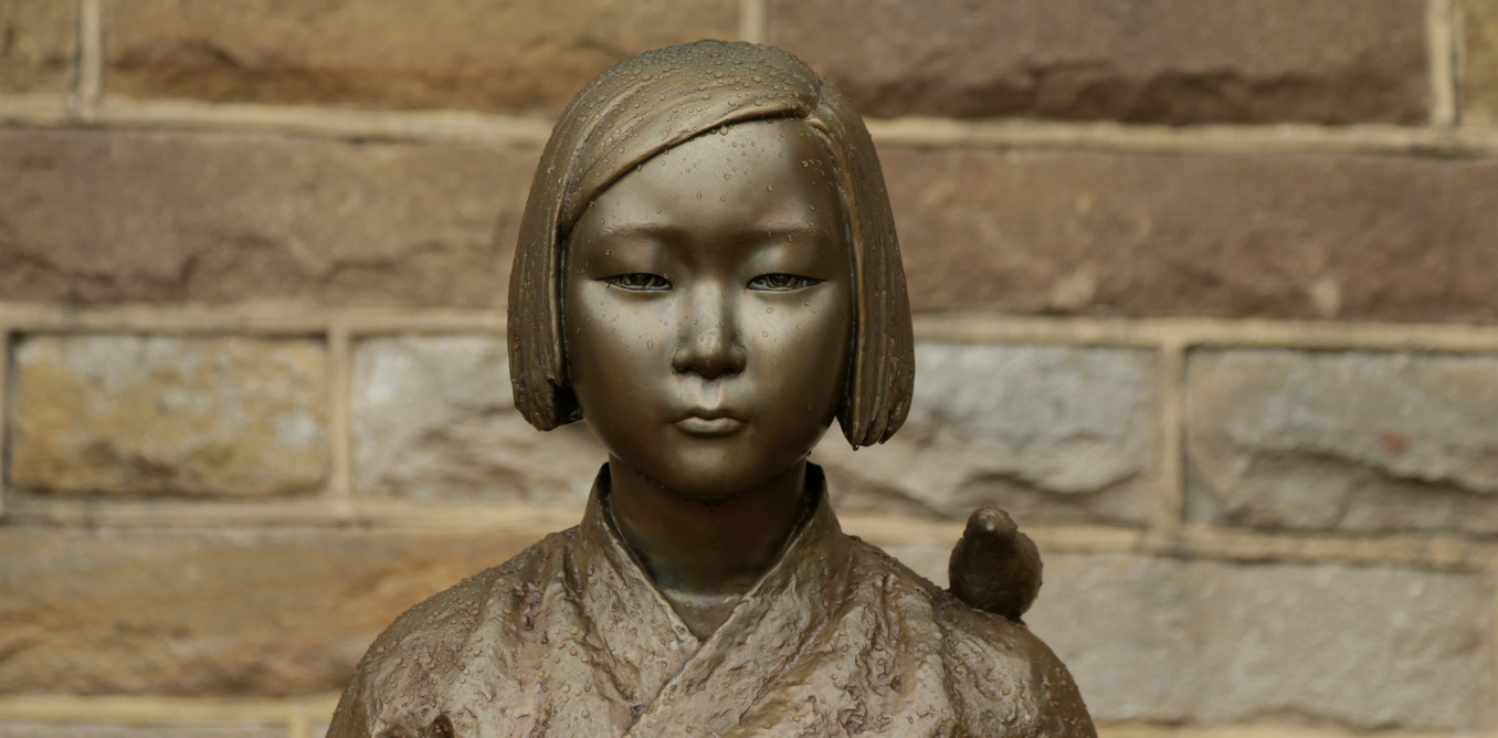 "A statue commemorating Korean ""comfort women"" is pictured at a Sydney church in Sydney, Australia December 15, 2016, a 1.5-metre statue imported from Korea which has been a flashpoint for tensions between Korean and Japanese communities in Sydney since it was unveiled in August.  REUTERS/Jason Reed - RTX2V4VT"