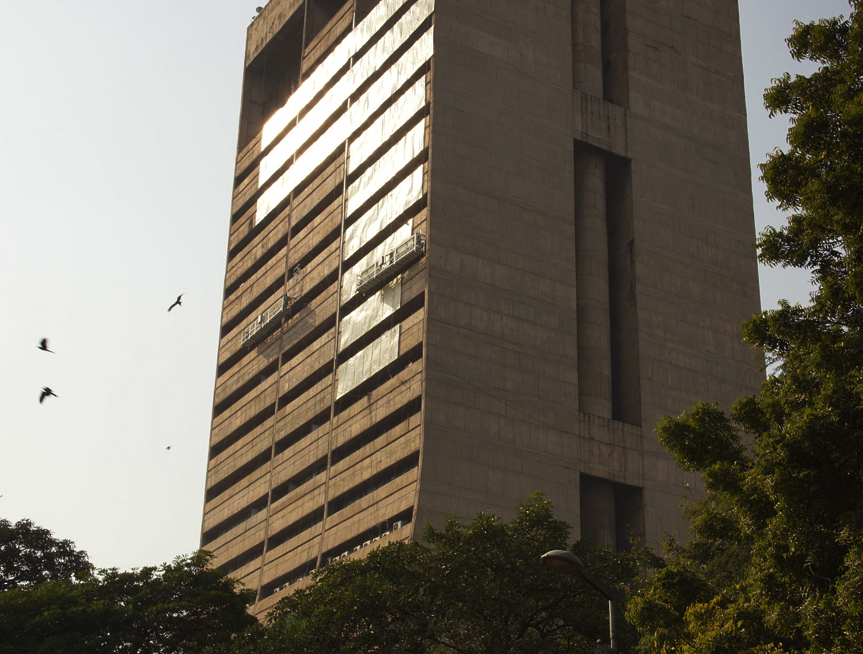 A view of the NDMC building with the LED billboards in the day. Courtesy: Ram Rahman